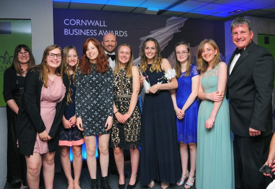 The Teenwork Cornwall team from Treviglas Community College, Newquay