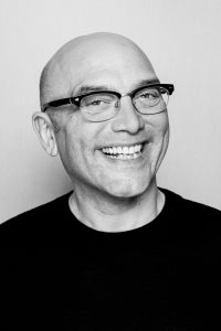Gregg Wallace portrait black and white grins