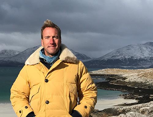 Ben Fogle on beach