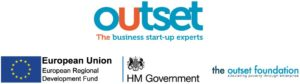 Outset and funders logos